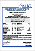 SAB&T BEE Verification Certificate